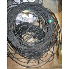Оптический кабель Б/У для внешней прокладки (с металлическим тросом) в Краснозаводске, оптокабель БУ (Краснозаводск)