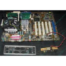 Материнская плата Asus P4PE (FireWire) с процессором Intel Pentium-4 2.4GHz s.478 и памятью 768Mb DDR1 Б/У (Краснозаводск)